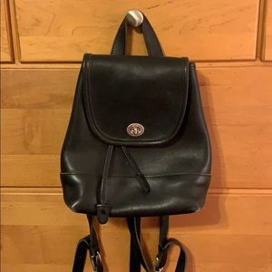 Used Authentic Coach leather backpack pocketbook